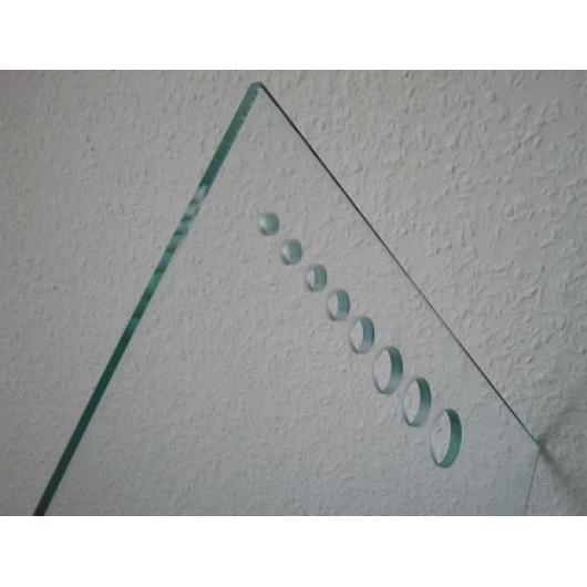 Сверление отверстий диаметром 5,6,8,10,12мм стекла 10 мм