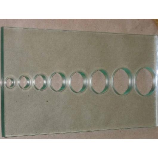 Сверление отверстий диаметром 14,15,20,26,30,35мм стекла 10 мм