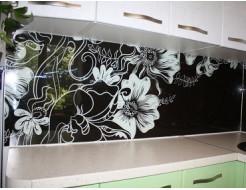 Кухонный фартук из стекла с покраской в 2 цвета - изображение 2 - интернет-магазин tricolor.com.ua
