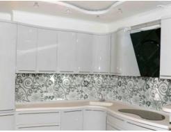 Кухонный фартук из супер чистого стекла с покраской в 2 цвета - изображение 2 - интернет-магазин tricolor.com.ua