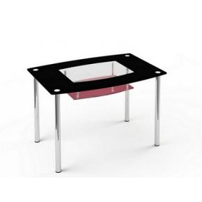 Стеклянный обеденный стол S2 1200*750 покраска - интернет-магазин tricolor.com.ua