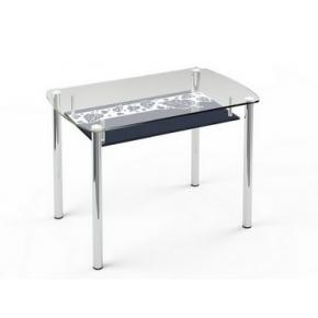 Стеклянный обеденный стол S7 1200*750 верх:прозрачный низ:покраска