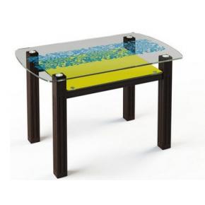 Стеклянный обеденный стол SW7 1100*700 покраска