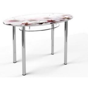 Стеклянный обеденный стол O1 1200*700 верх:покраска низ:прозрачный
