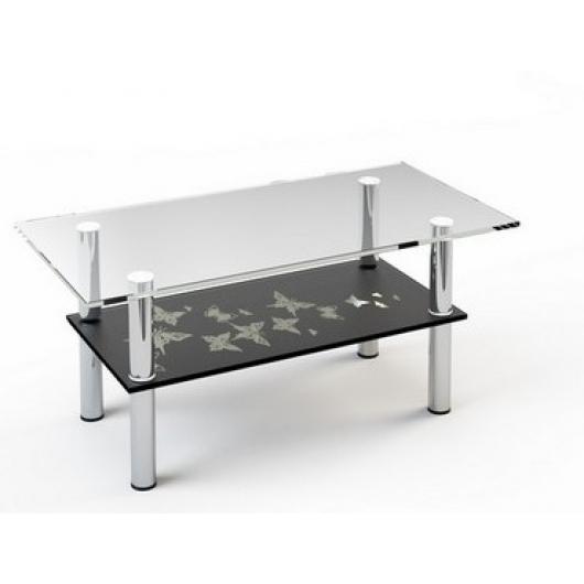 Стеклянный журнальный стол JTS 012 1000*500 верх:прозр низ:покраска