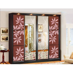Двери для шкафа купе стекло с покраской в 2 цвета
