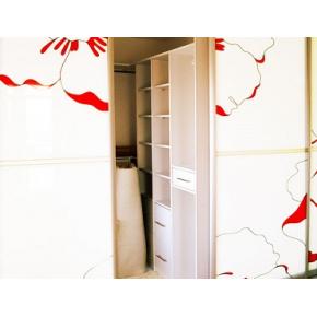 Двери для шкафа купе супер чистое стекло с покраской в 3 цвета