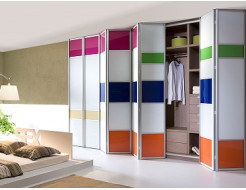 Двери для шкафа купе супер чистое стекло с покраской в 1 цвет - изображение 2 - интернет-магазин tricolor.com.ua