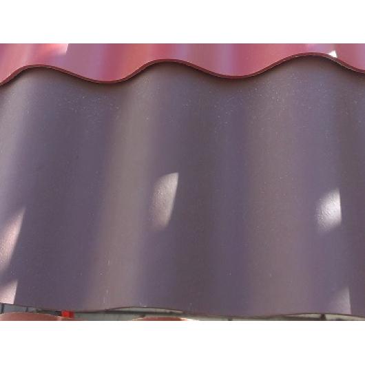 Шифер крашенный Шоколадный 8 волновой