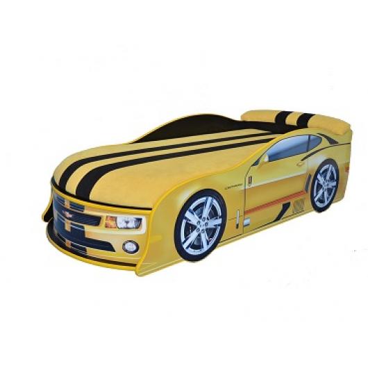 Кровать машина Camaro желтая 70х150 ДСП - интернет-магазин tricolor.com.ua