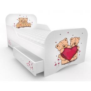 Кроватка Мишки с цельным бортиком 80х160 ДСП