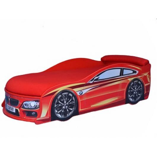 Кровать машина BMW красная 80х180 ДСП - интернет-магазин tricolor.com.ua