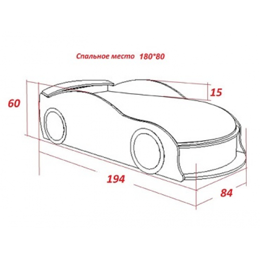 Кровать машина Camaro полиция 80х180 ДСП - изображение 2 - интернет-магазин tricolor.com.ua