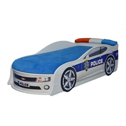 Кровать машина Camaro полиция 80х180 ДСП - интернет-магазин tricolor.com.ua