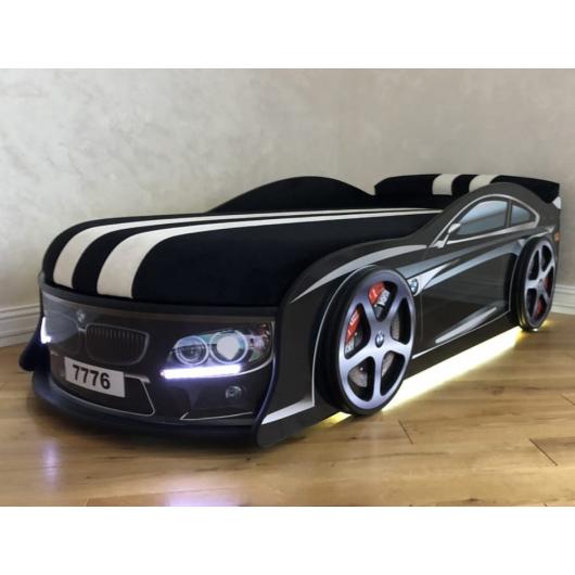 Кровать машина BMW черная 70х150 ДСП - изображение 2 - интернет-магазин tricolor.com.ua