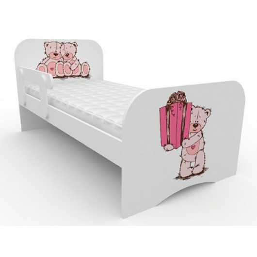 Кроватка стандарт Мишка с подарком 80х160 ДСП