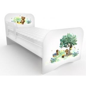 Кроватка стандарт Мишка коричневый 80х160 ДСП