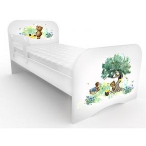 Кроватка стандарт Коричневый мишка 80х170 ДСП
