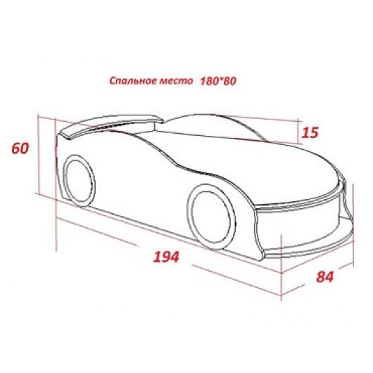 Кровать машина Audi красная 80х180 ДСП - изображение 2 - интернет-магазин tricolor.com.ua