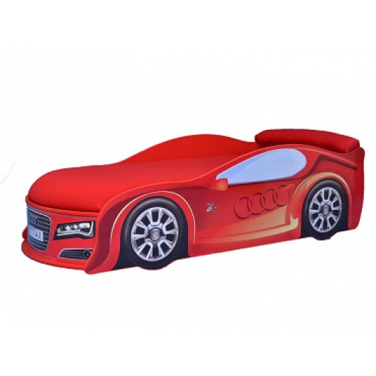 Кровать машина Audi красная 80х180 ДСП - интернет-магазин tricolor.com.ua