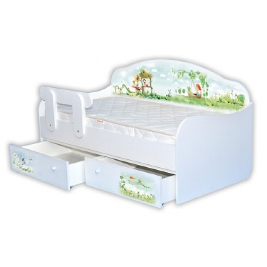 Кроватка диванчик Нежность 80х160 ДСП