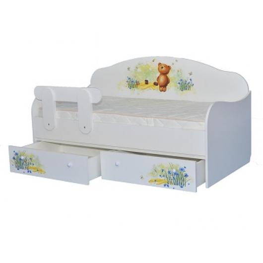 Кроватка диванчик Мишка с медом 80х170 ДСП