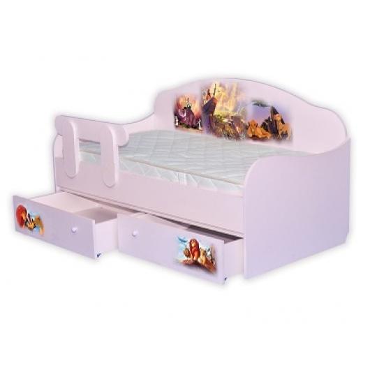 Кроватка диванчик Король Лев 80х160 ДСП