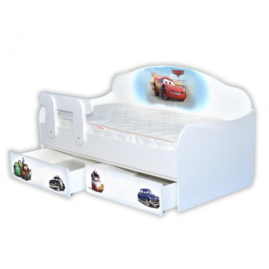 Кроватка диванчик Тачки-1 80х170 ДСП