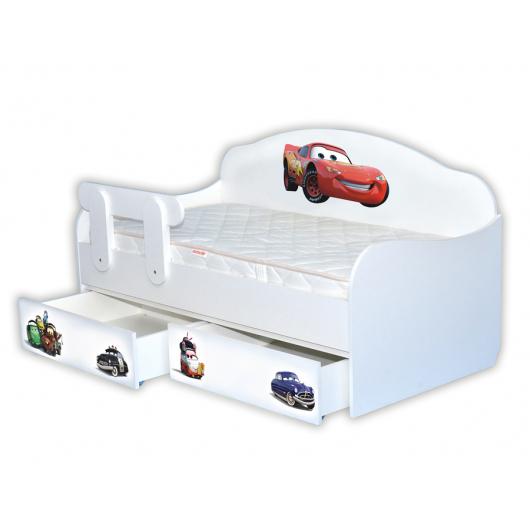 Кроватка диванчик Тачки-2 80х190 ДСП