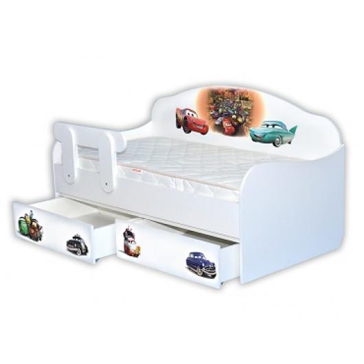 Кроватка диванчик Тачки-3 80х160 ДСП