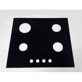 Стекло для варочной панели с покраской и отверстиями