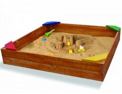 Деревянная песочница-9 - изображение 2 - интернет-магазин tricolor.com.ua