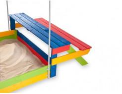 Детская деревянная песочница-20 - изображение 2 - интернет-магазин tricolor.com.ua
