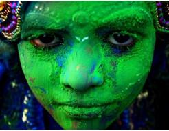 Краска Холи зеленая - изображение 2 - интернет-магазин tricolor.com.ua