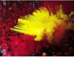 Краска Холи желто-лимонная - изображение 2 - интернет-магазин tricolor.com.ua