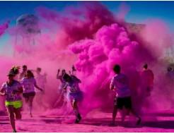 Краска Холи малиновая - изображение 2 - интернет-магазин tricolor.com.ua