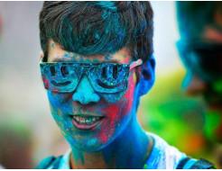 Краска Холи голубая - изображение 3 - интернет-магазин tricolor.com.ua