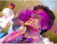 Краска Холи фиолетовая - изображение 2 - интернет-магазин tricolor.com.ua