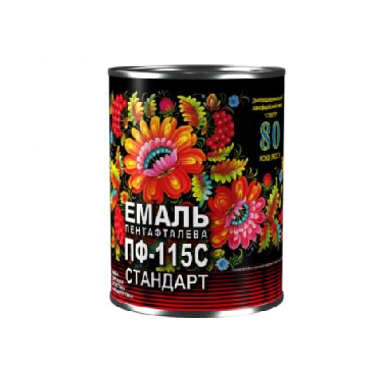Эмаль алкидная ПФ-115С Стандарт Спектр черная - интернет-магазин tricolor.com.ua