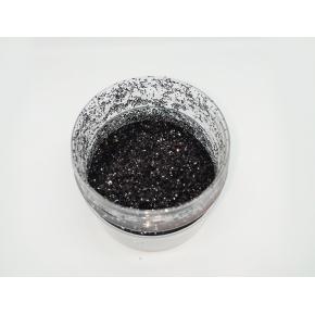 Глиттер GBL/0,6 мм (1/40) черный Tricolor - изображение 2 - интернет-магазин tricolor.com.ua