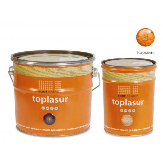 Лазурь для дерева Spot Colour Toplasur №3 кармин