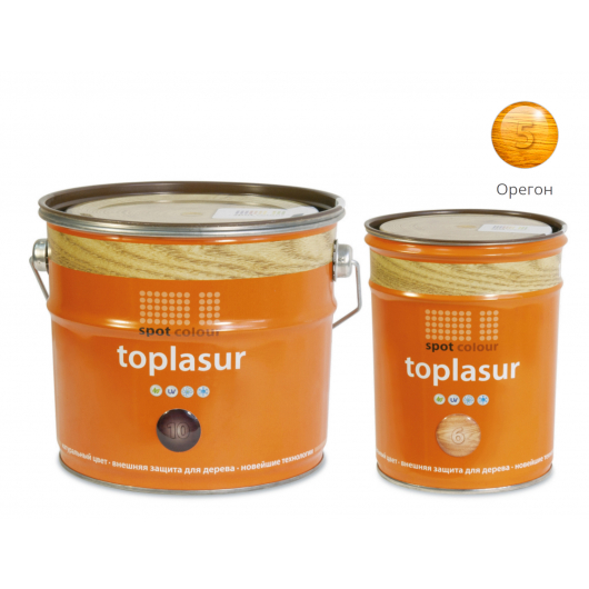 Лазурь для дерева Spot Colour Toplasur №5 орегон