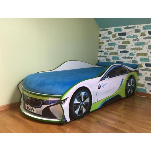 Кровать машина BMW space белая 70х150 без подъемного механизма - изображение 3 - интернет-магазин tricolor.com.ua
