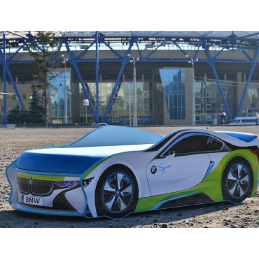 Кровать машина BMW space белая 70х150 без подъемного механизма - изображение 2 - интернет-магазин tricolor.com.ua