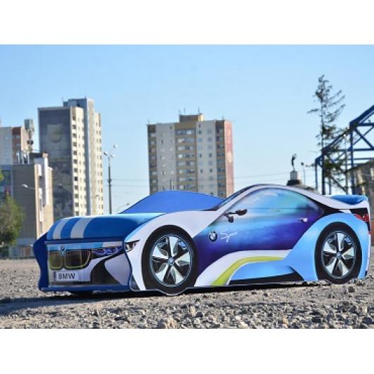Кровать машина BMW space круиз 80х180 с подъемным механизмом - изображение 2 - интернет-магазин tricolor.com.ua