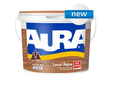 Лазурь для дерева Aura Lasur Aqua белый