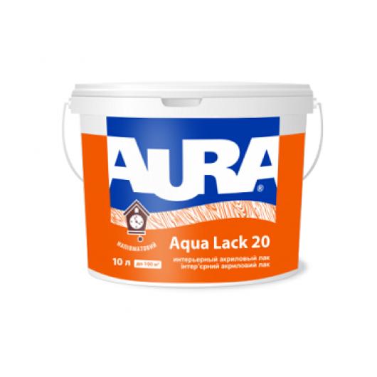 Лак акриловый полуматовый интерьерный Aura Aqua Lack 20