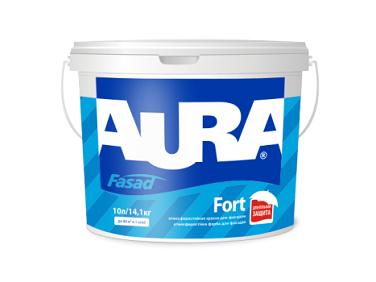 Краска атмосферостойкая матовая фасадная Aura Fasad Fort