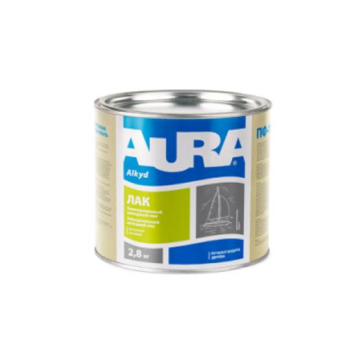 Лак яхтный алкидно-уретановый полуматовый Aura