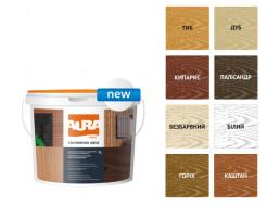 Состав декоративно-защитный для древесины Aura ColorWood Aqua белый - изображение 2 - интернет-магазин tricolor.com.ua